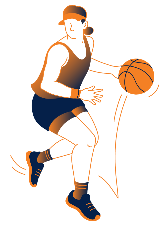 a tennis player with a basketball represents a Product Management Training that has adapted to the chaining environment